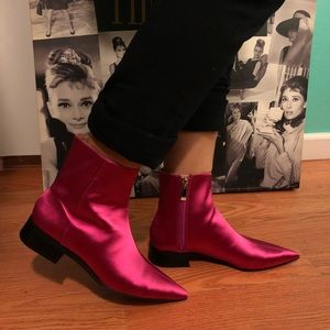 NWTGorgeous Pink Zara ankle boots, women size 35⭐️
